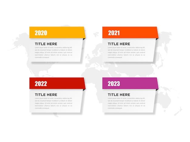 Infographie modèle marketing d'entreprise avec des années