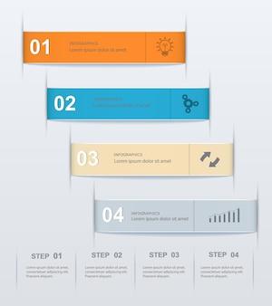 Infographie de modèle numérique par étapes