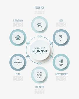 Infographie, modèle d'options de nombre.