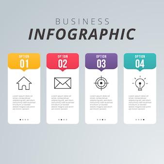 Infographie moderne des affaires