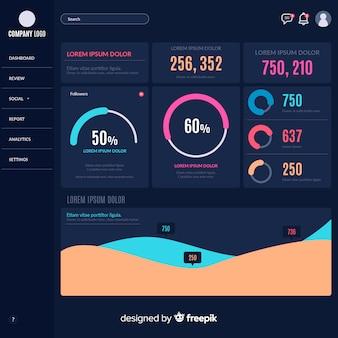 Infographie moderne avec style coloré
