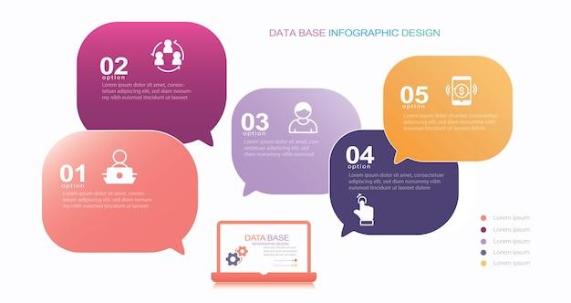 Infographie moderne modèle stock illustration infographie bulle numéro 5 météo
