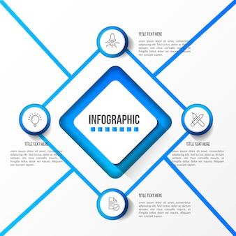 Infographie moderne avec table 3d