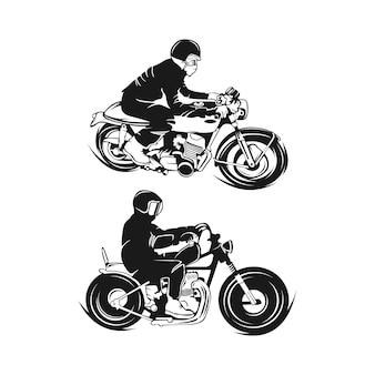 Infographie de moto vintage. thème du vélo de la vieille école. illustration vectorielle eps 10