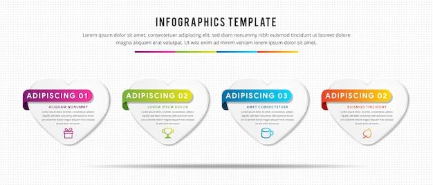 Infographie numérique en quatre étapes