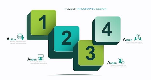 Infographie numéro modèle stock illustration infographie numéro météo icône