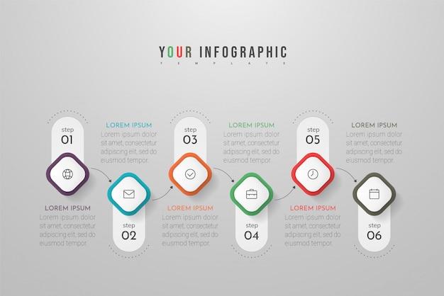Infographie avec options, étapes ou processus. peut être utilisé pour, organigrammes, diagramme, présentations.