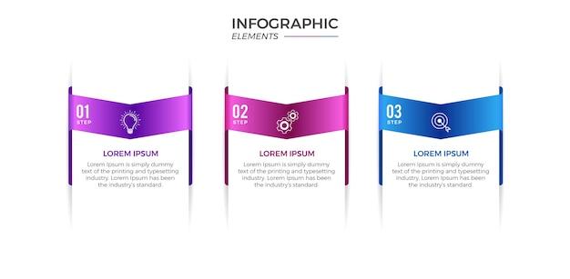 Infographie avec options ou étapes
