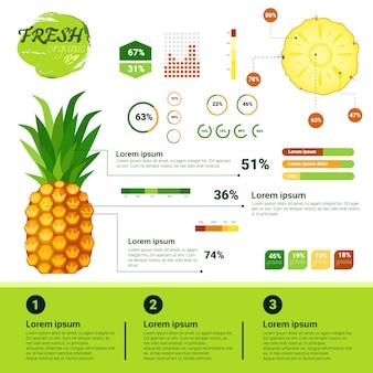 Infographie organique fraîche croissance de fruits naturels, agriculture et agriculture