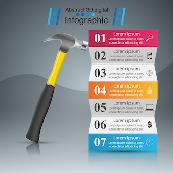 Infographie papier d'affaires