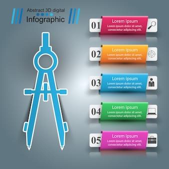 Infographie de papier d'entreprise devider.