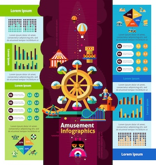 Infographie de parc d'attractions