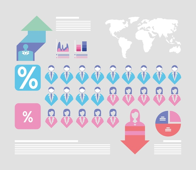 Infographie de personnes