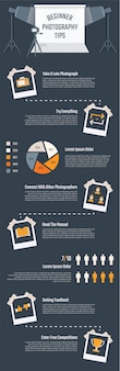 Infographie de la photographie pour la présentation.
