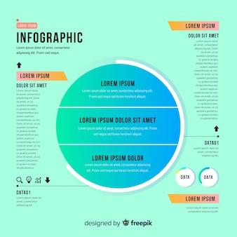 Infographie à plat avec effet de dégradé