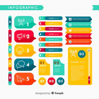 Infographie à plat