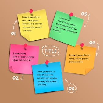 Infographie de post-its