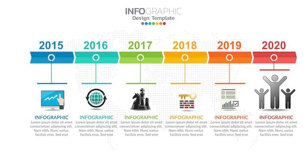 Infographie pour concept d'affaires avec des icônes et des options ou des étapes.