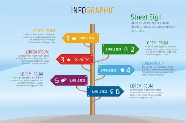 Infographie pour le modèle de présentation d'entreprise