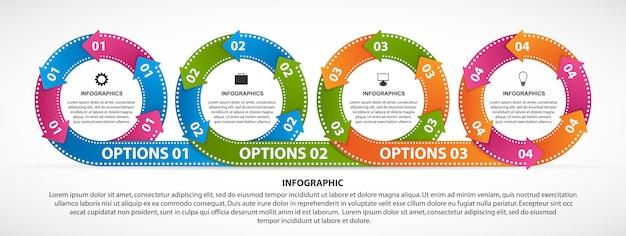 Infographie pour présentation d'entreprise