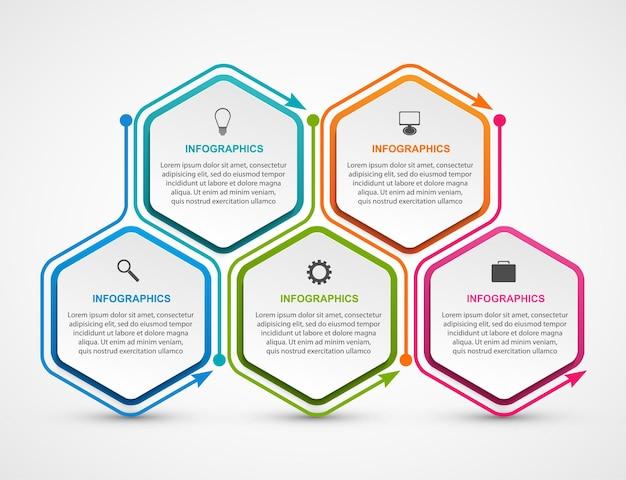 Infographie Pour Des Présentations Commerciales Ou Une Bannière D'information. Vecteur Premium