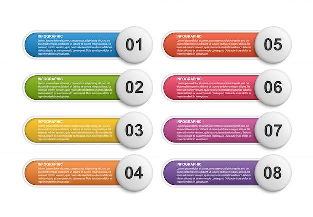 Infographie pour les présentations commerciales.