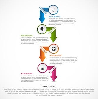 Infographie pour les présentations d'entreprise ou la bannière d'information