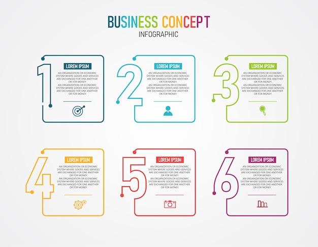 Infographie pour présentations, processus, graphiques de données.