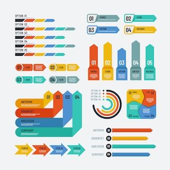 Infographie de présentation. organigramme chronologie diagramme de processus de diagramme de flux de travail. éléments vectoriels infographiques