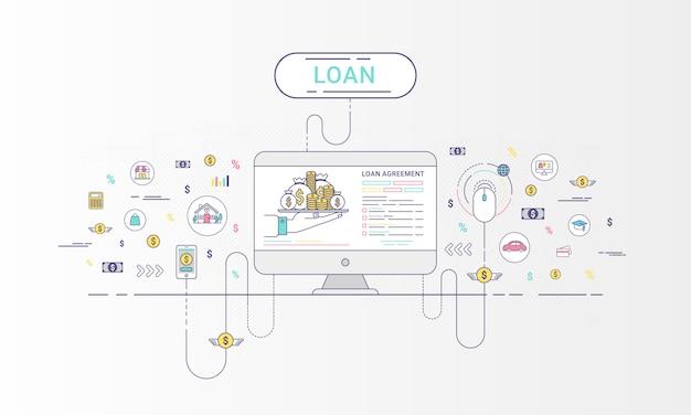 Infographie de prêt
