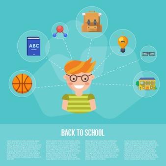 Infographie de la rentrée scolaire
