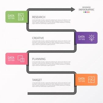 Infographie routière et icônes