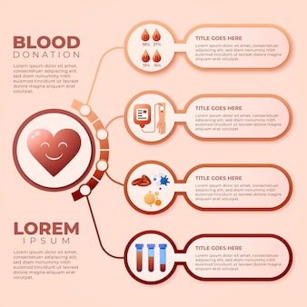 Infographie de sang dégradé