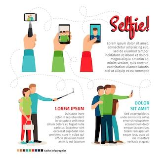 Infographie de selfie