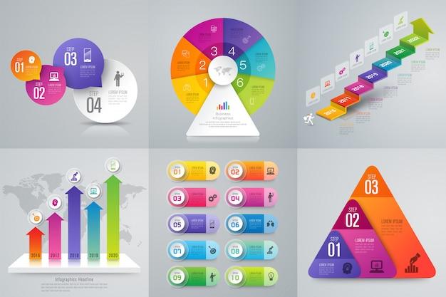 Infographie sertie d'étapes et d'options