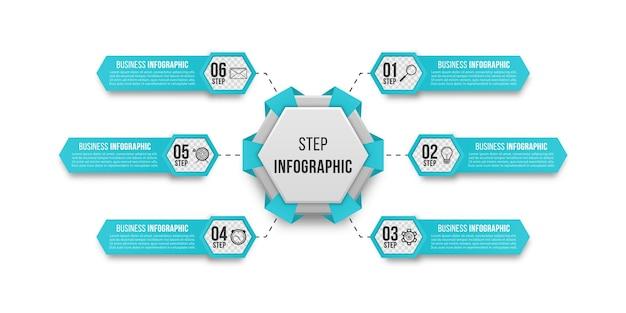 Infographie simple pour la présentation de l'entreprise