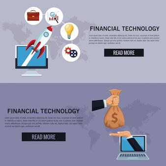 Infographie de la technologie financière en ligne