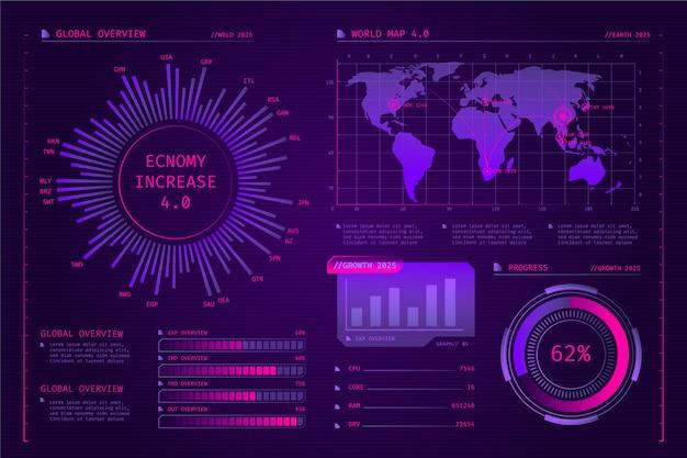 Infographie de la technologie futuriste