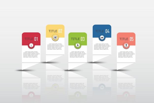 Infographie vector design et icônes marketing