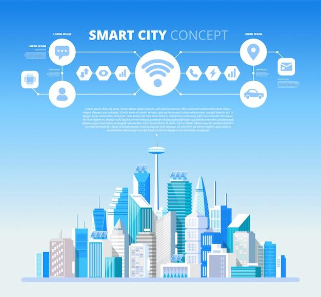 Infographie de la ville intelligente