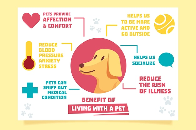 Infographie de vivre avec un animal de compagnie