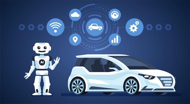 Infographie de voiture autonome