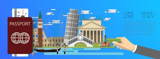 Infographie de voyage italie infographique