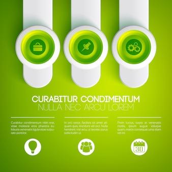 Infographie web commerciale légère
