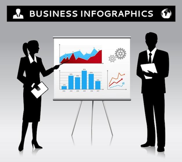 Infographies d'affaires de conception de fond