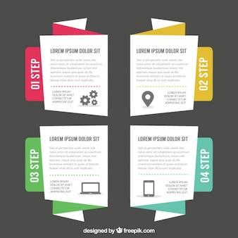 Infographies ensemble de bannières commerciales