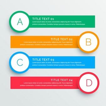 Infographies étapes bannières modèle