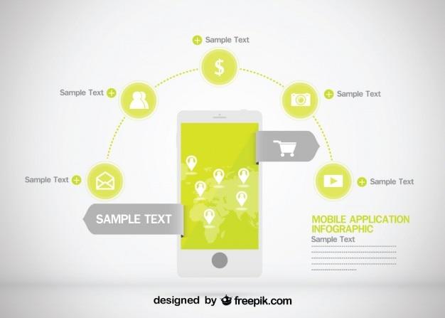 Infographique d'affaires conception d'applications mobiles