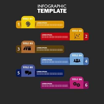 Infographiques bannières colorées