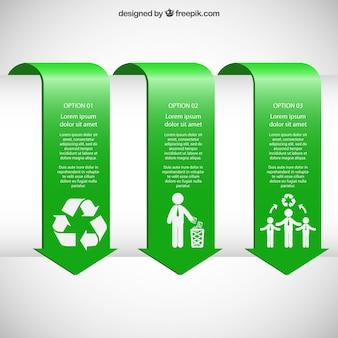 Infographiques bannières vertes